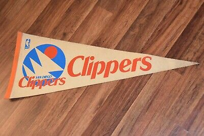 Vintage San Diego Clippers NBA Full Size Pennant basketball flag Los  Angeles old.