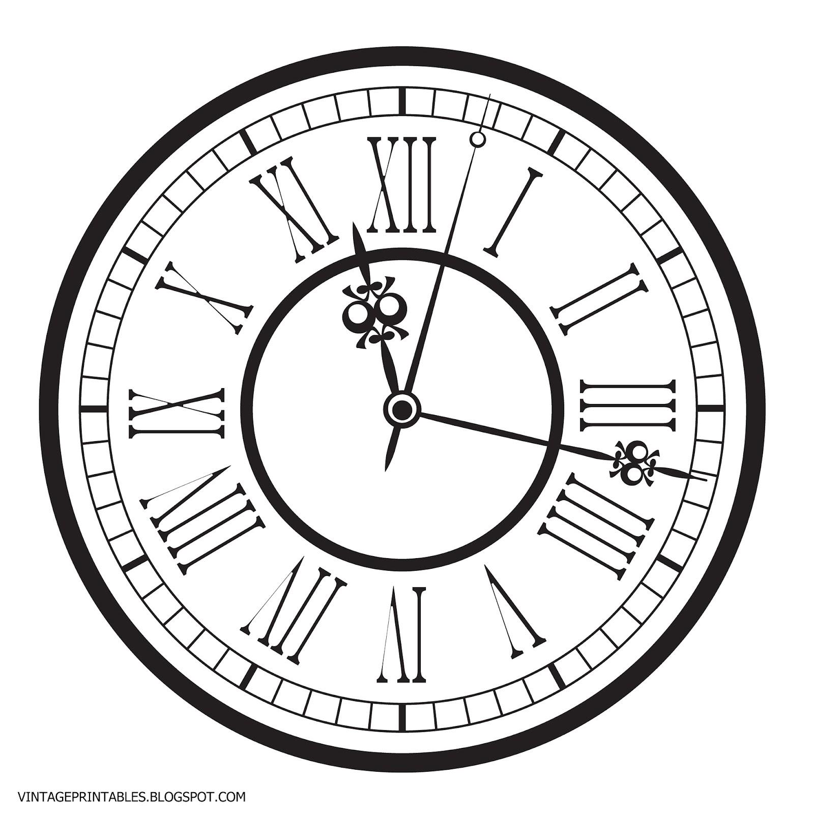Free vintage clip art images: Old antique clock free clip art.