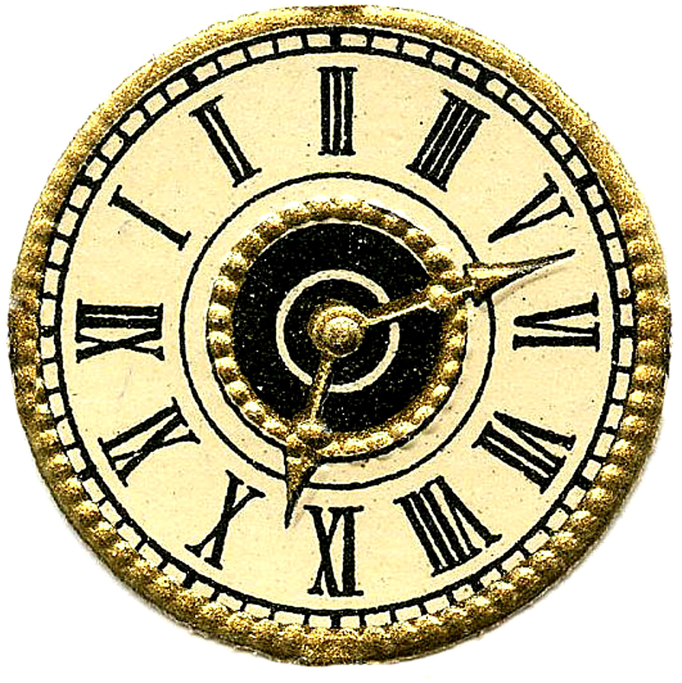 Old fashioned clock clipart.
