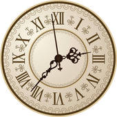 Antique Clock Clip Art.