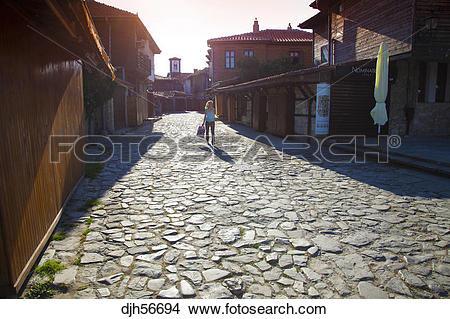Stock Photo of Bulgaria, Europe, Black Sea, Nessebar, Old Town.