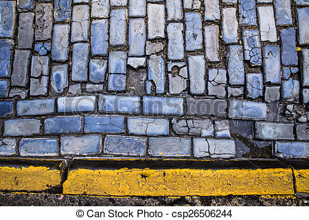 Stock Photo of Cobbled Street.