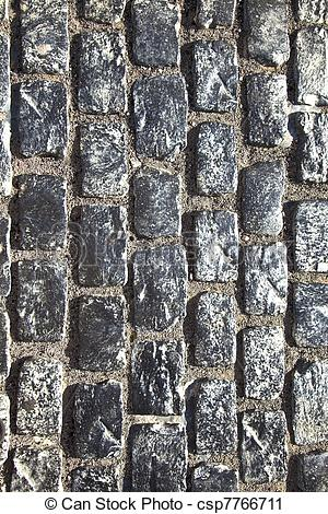 Stock Photography of old cobble stone street.