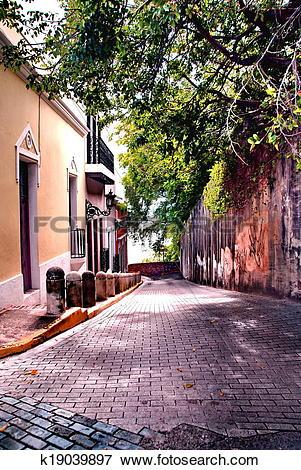 Picture of Cobblestone Street Old San Juan, PR k19039897.