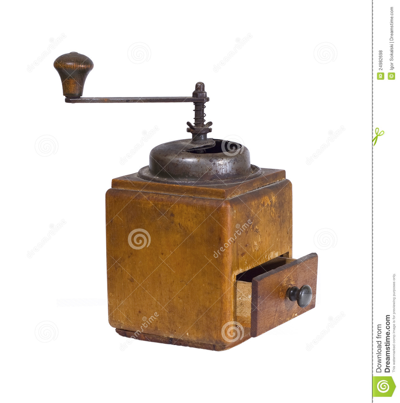 Vintage Coffee Grinder Royalty Free Stock Photo.