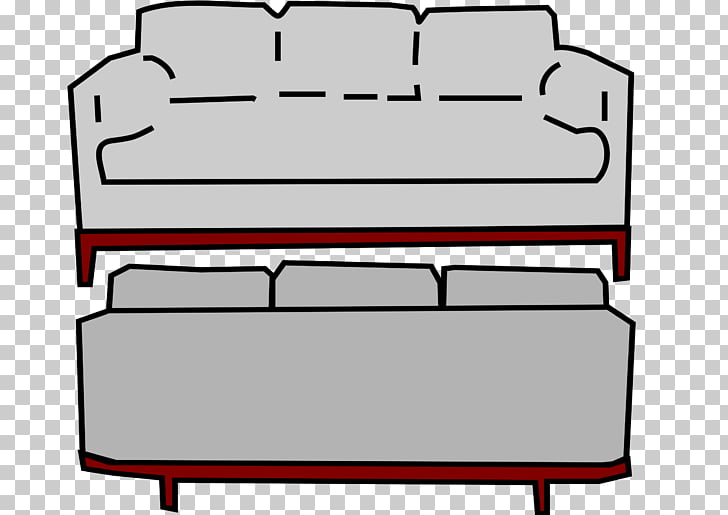 Couch Furniture Living room , Old Couch PNG clipart.