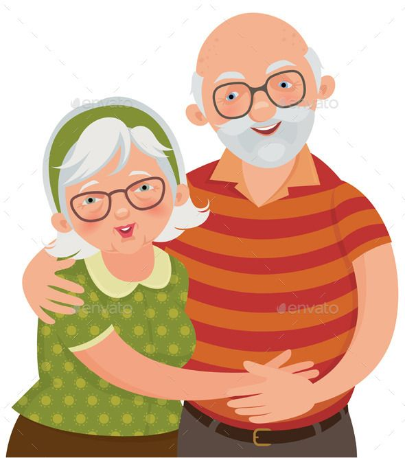 Happy Old Couple.