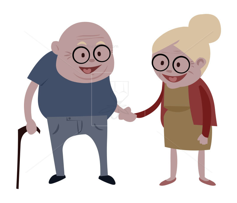 Happy Old Couples.