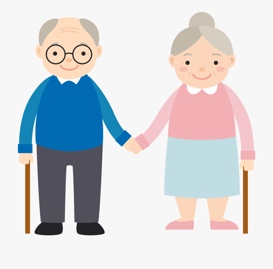 Old People Cartoons Clipart.