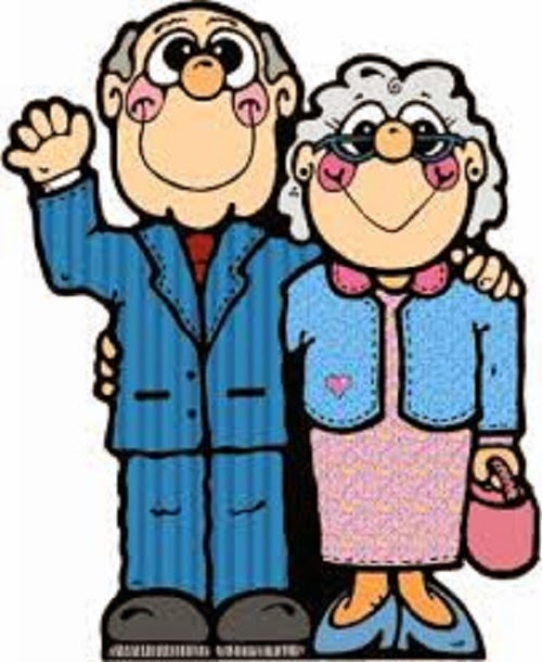 Old couple clipart #15