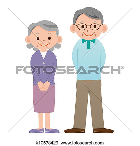 Old couple clipart #14