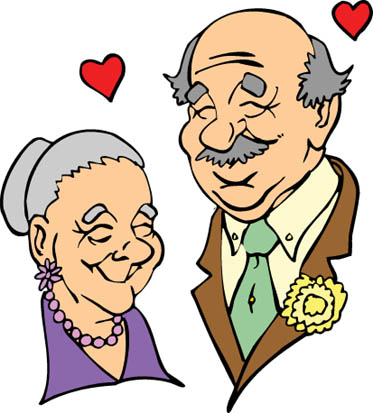 Old couple clipart #13