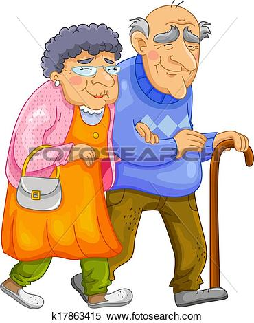 Old couple Clip Art Illustrations. 3,694 old couple clipart EPS.
