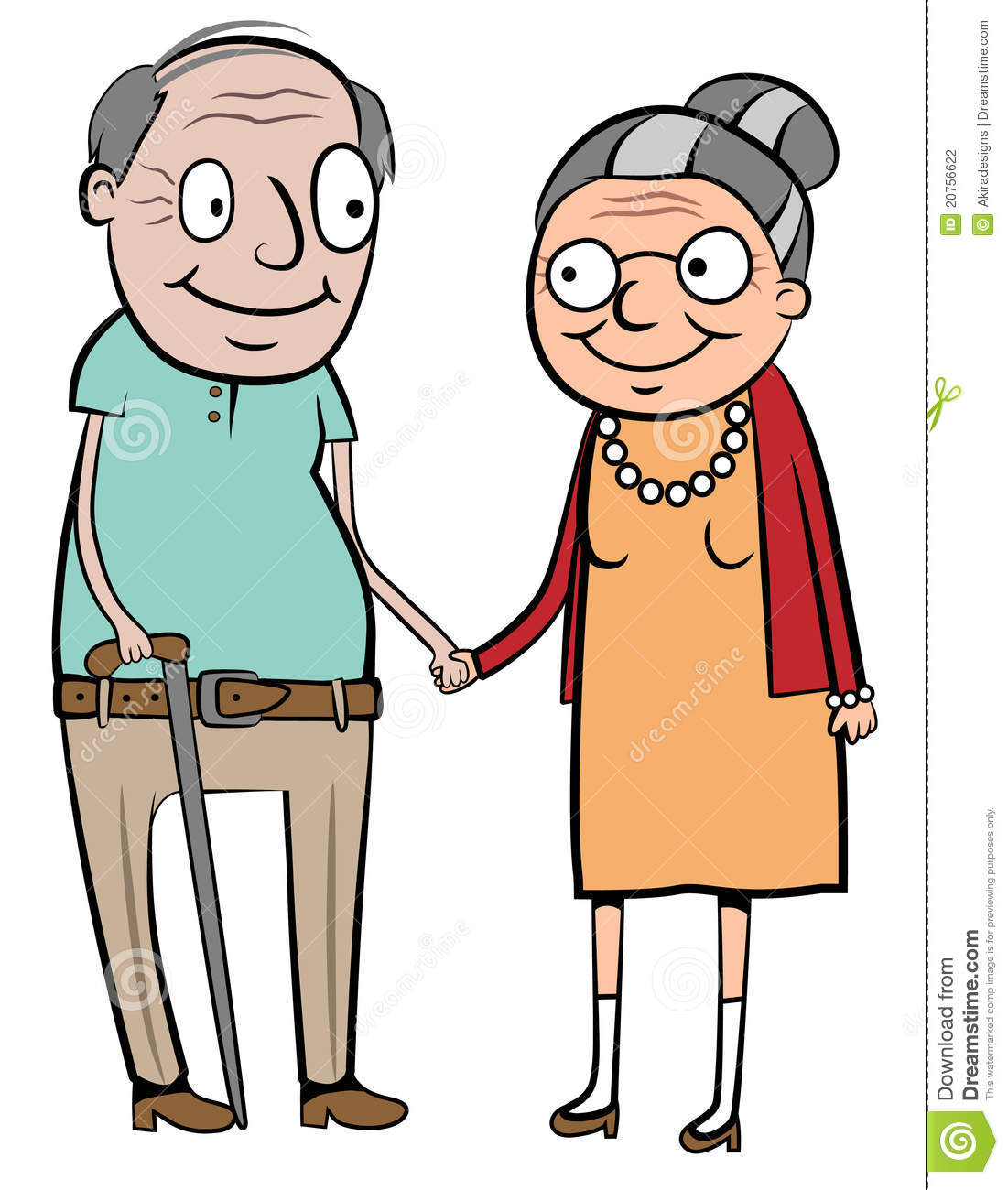 Happy Old Couple Stock Photography.