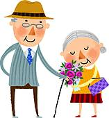 Old Couple Clip Art.