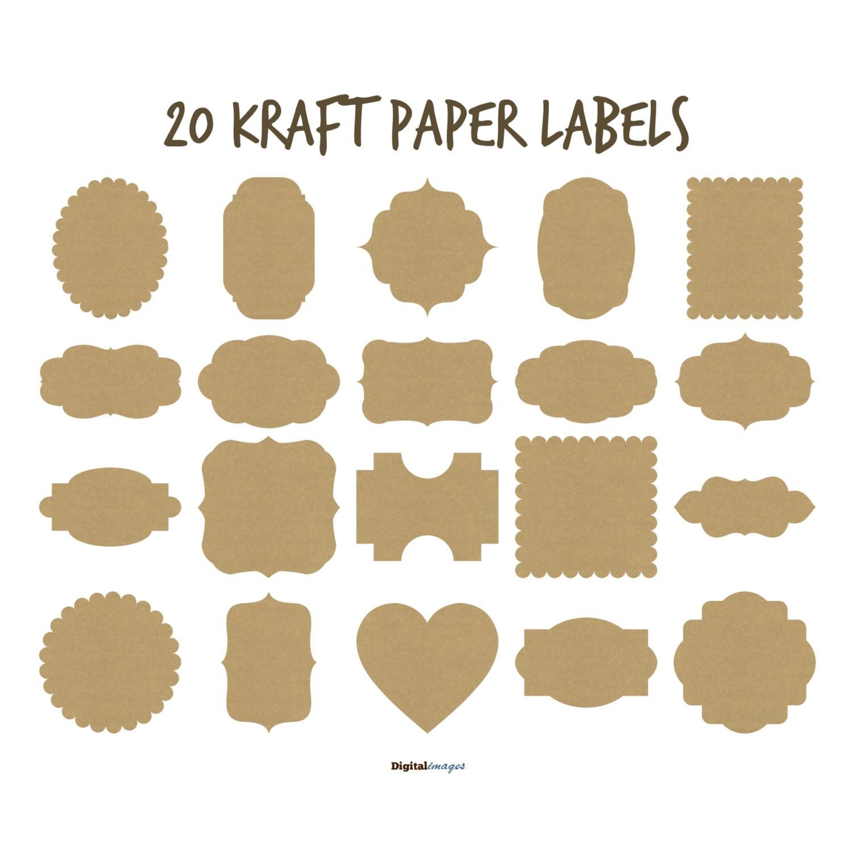 Kraft Paper Frames Clip Art Old paper labels Vintage.