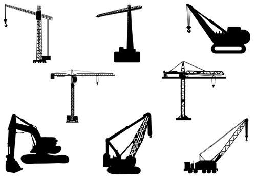 Crane Vector Silhouette.