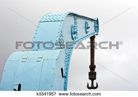 Picture of Old Crane with hook k5541957.