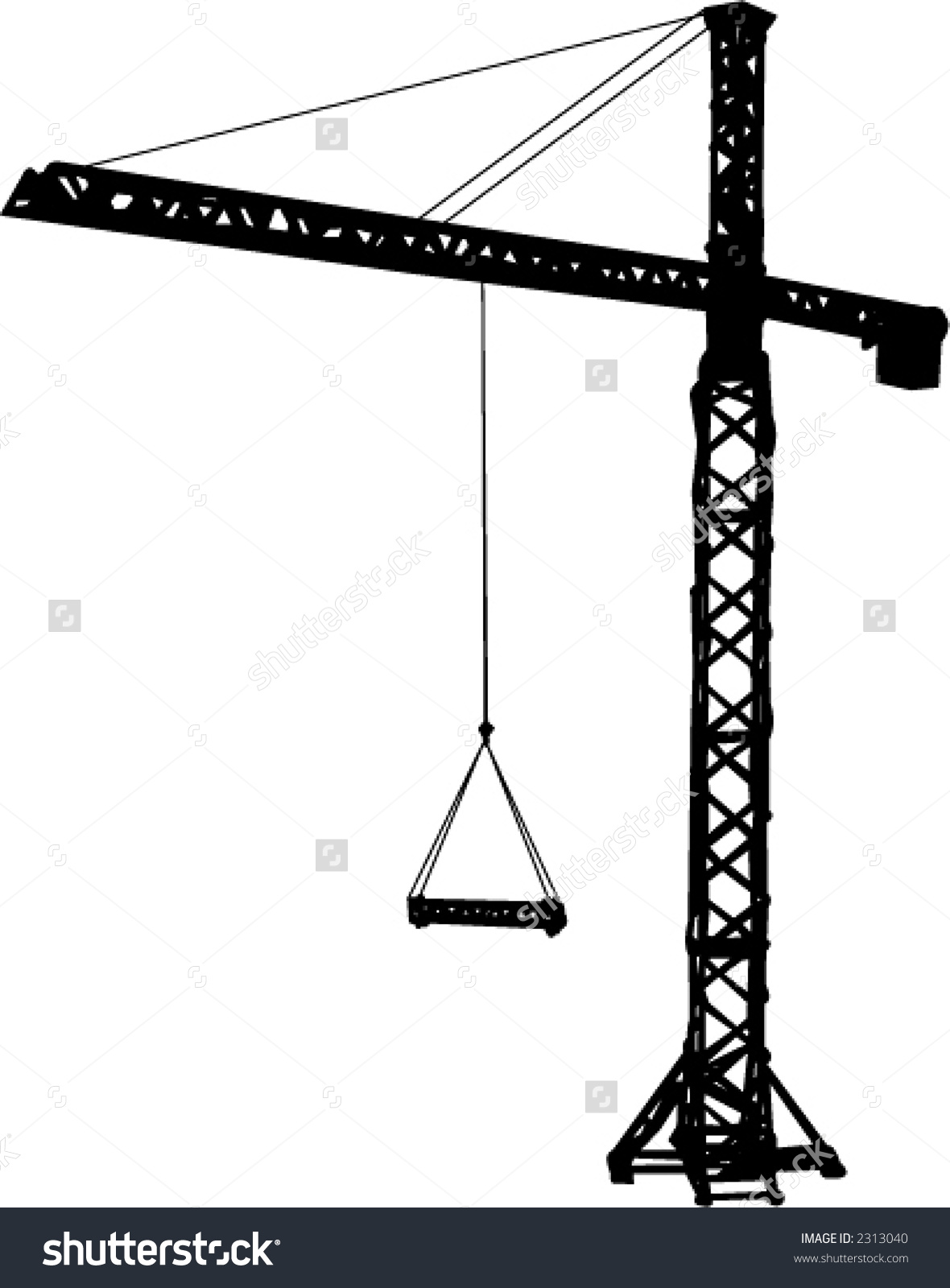 Tower crane clipart.