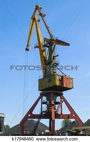 Stock Photography of Old port crane k17948460.