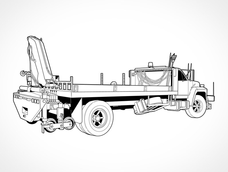 Boom Truck Clipart.
