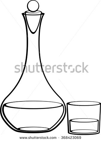 Decanter Stock Photos, Royalty.