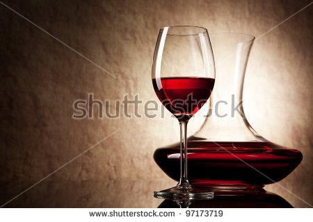 Old Wine Decanter Stock Photos, Royalty.