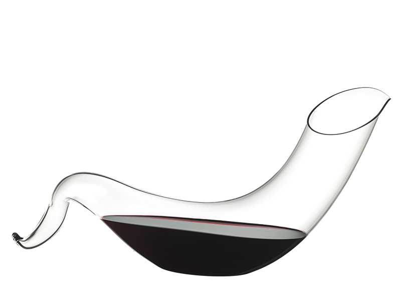 RIEDEL CRYSTAL'S BACCHUS DECANTER PAYS HOMAGE TO THE GOD OF WINE.