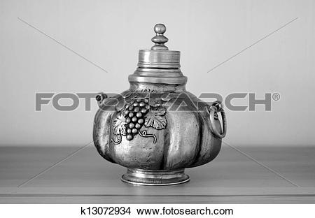 Stock Photo of Old wine decanter k13072934.