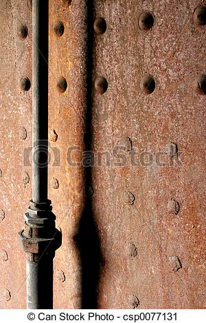 Stock Photography of pipe decay.