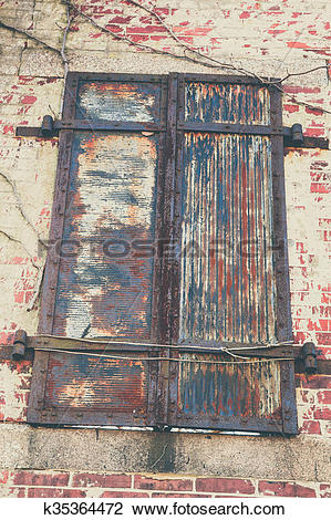 Stock Photo of Old Shutters in Decay k35364472.