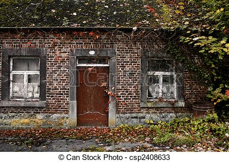 Stock Photos of old house in decay.