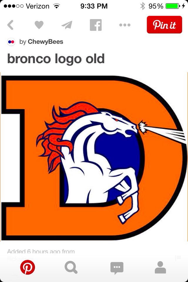 The Favorite Old Denver Broncos team logo.