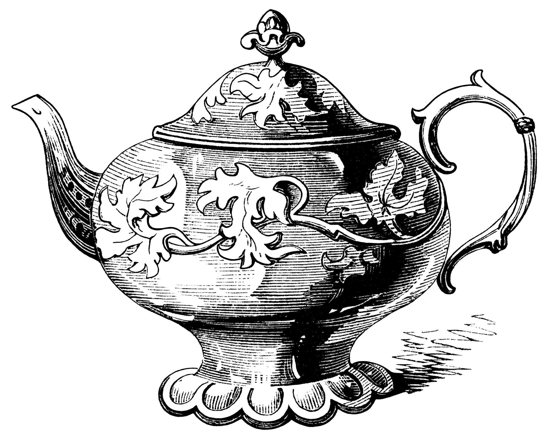 Elegant Tea Pots Free Victorian Clip Art Old Design Shop Blog.