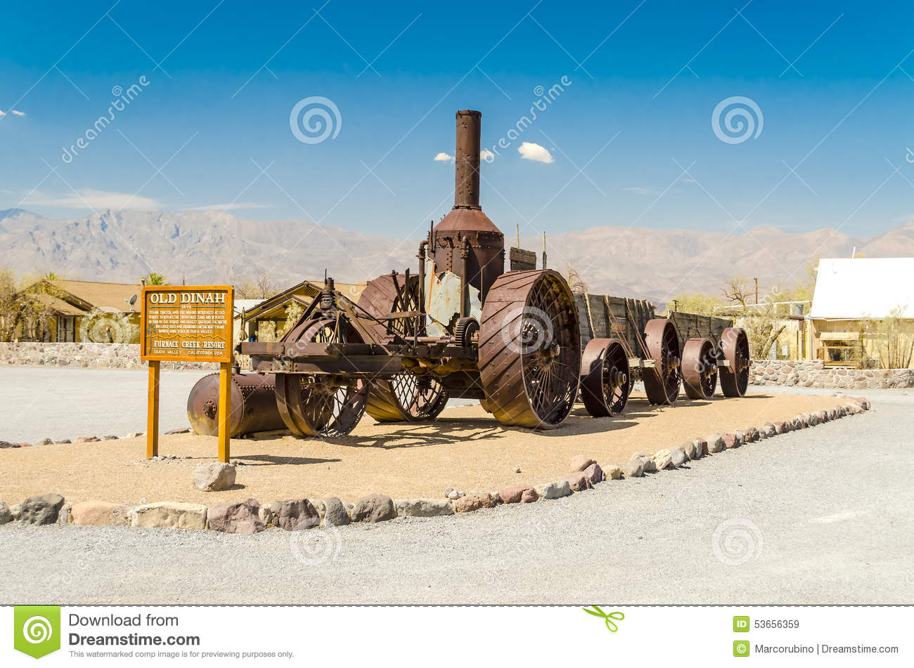 Coal Burning Old Dinah Steam Tractor At Furnace Creek Ranch In D.