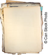 Pictures of Stack of Old Documents.