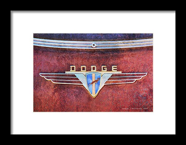 Old Dodge Ram Logo Vintage Framed Print.