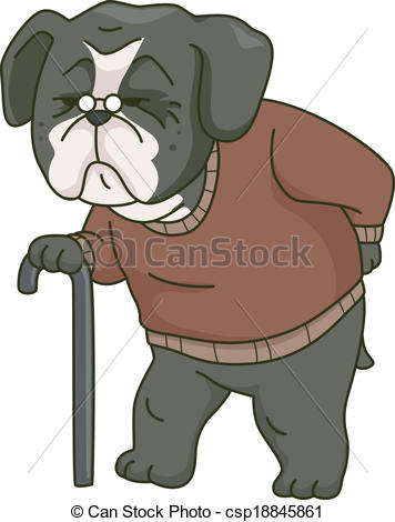Old Dog Clipart.
