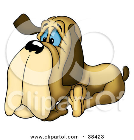 Clipart Illustration of a Lonely Old Dog by dero #38423.