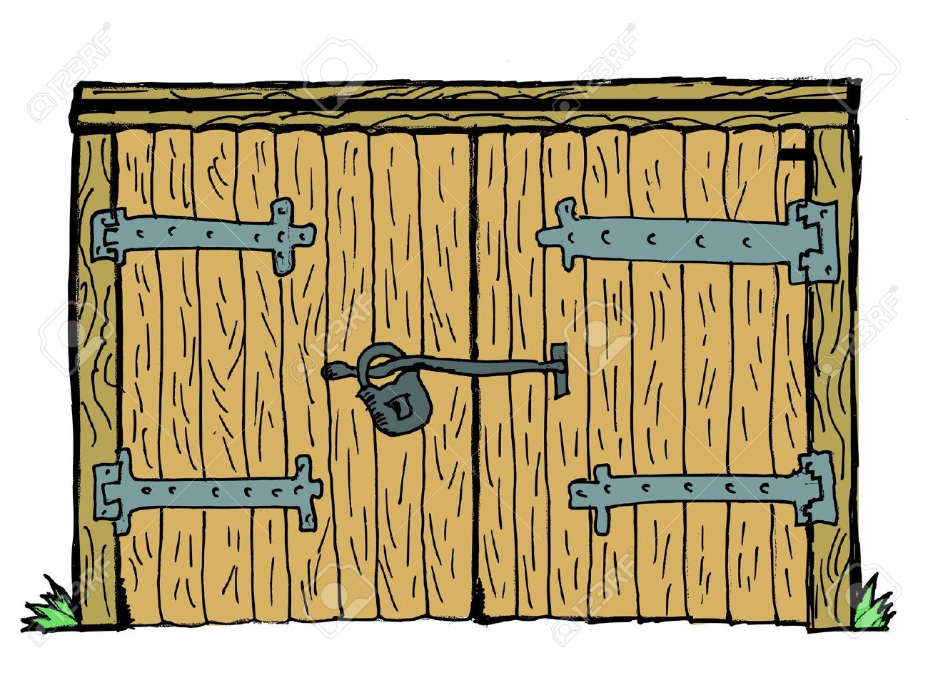 Old door clipart.