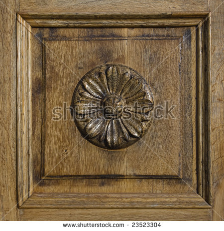 Carved Wooden Door Panel Stock Photos, Royalty.