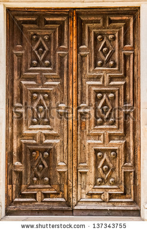 Carved Door Stock Images, Royalty.