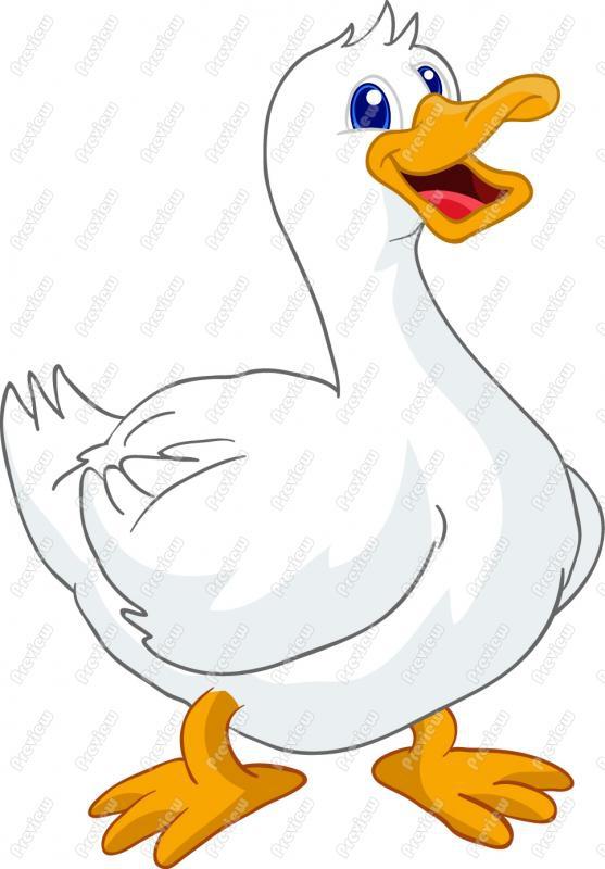 Running Duck Cartoon Clipart#2200694.