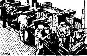 Old Factory clip art Free Vector.