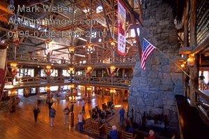 Stock Photo of Old Faithful Inn, Yellowstone National Park.
