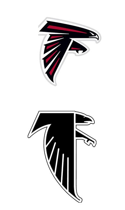 Old falcons Logos.