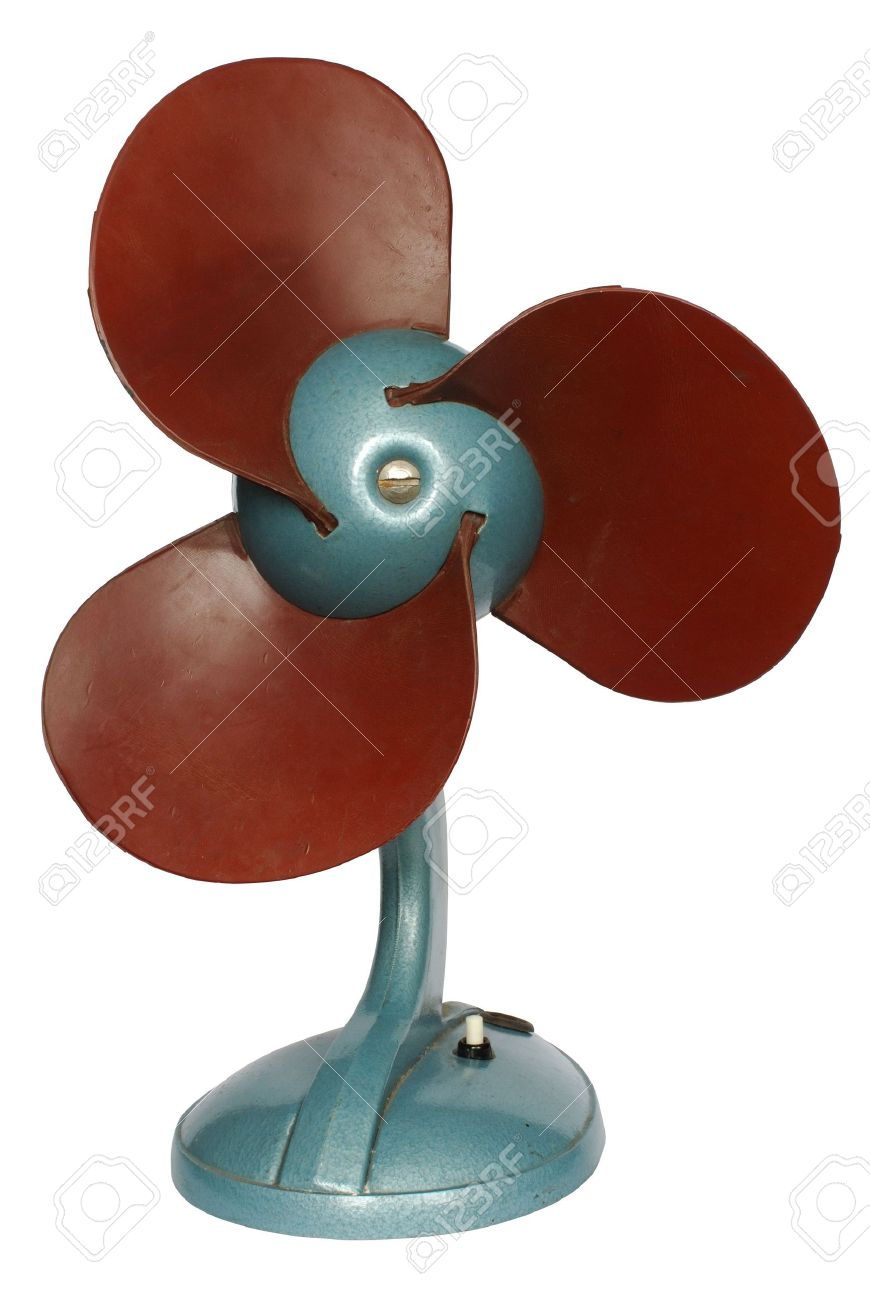 Isolated Old Fan Stock Photo, Picture And Royalty Free Image.