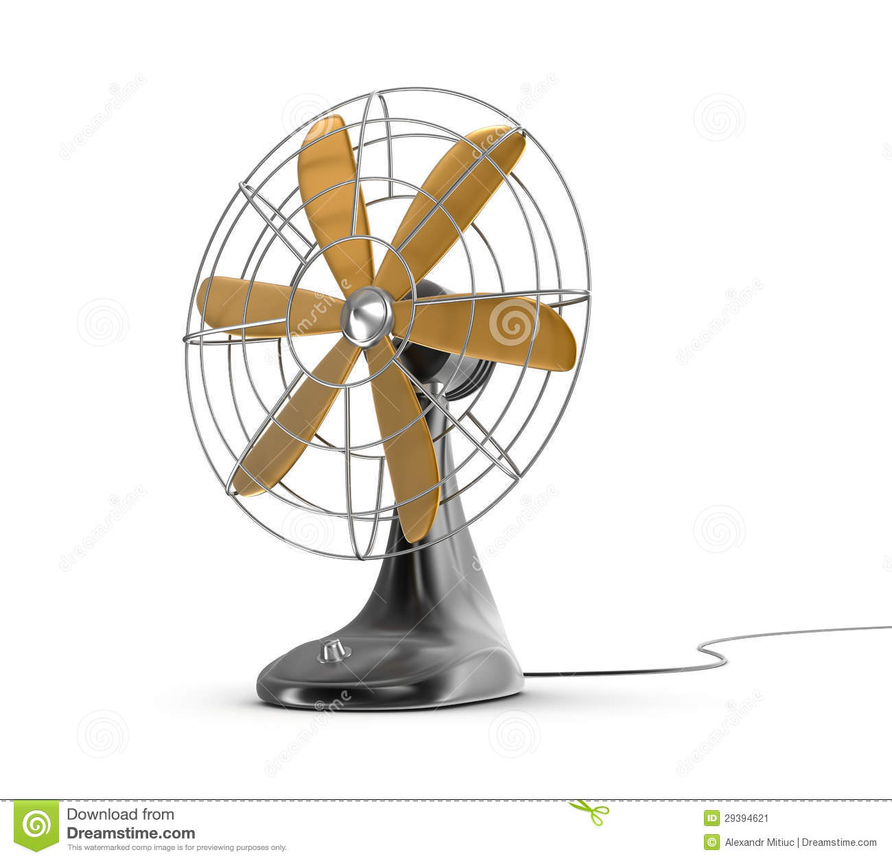 Vintage Electric Fan Table Stock Illustrations.