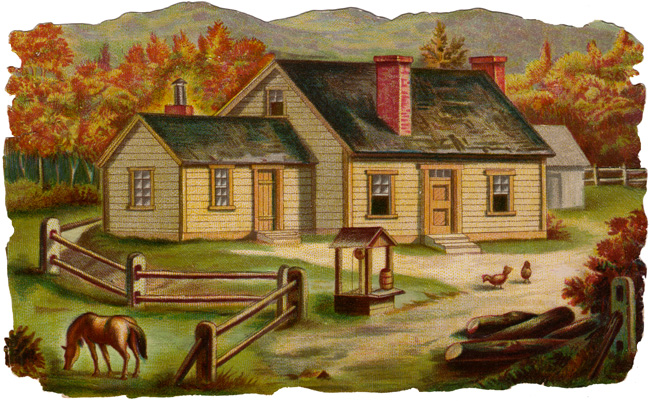 Farm house clip art.