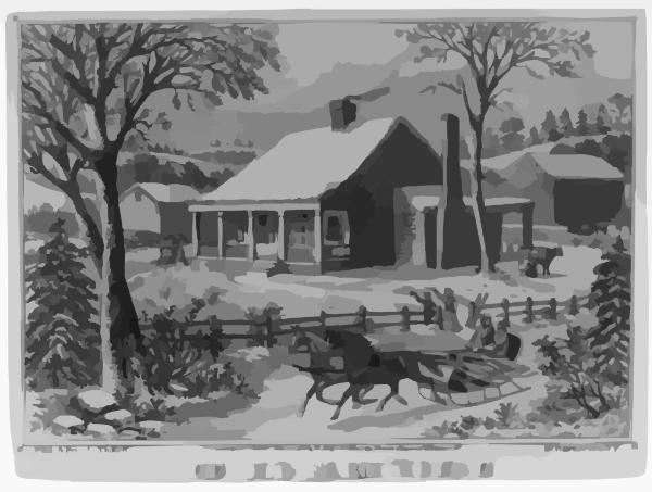 The Old Farm House Clip Art at Clker.com.